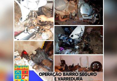 Polícia Militar realiza prisão de acusados envolvidos em desmanche de motocicletas roubadas em Caxias