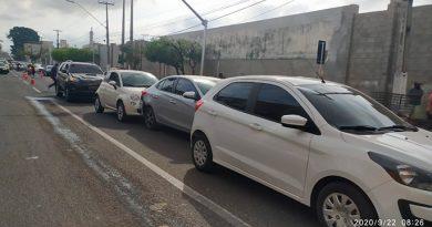 Desrespeito à faixa de pedestre causa acidente em Imperatriz