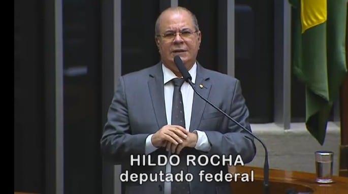 Deputado Hildo Rocha faz pronunciamento na tribuna da Câmara, em homenagem aos 68 anos de emancipação política de Amarante
